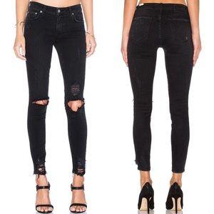 LOVERS + FRIENDS - Ripped denim jeans black, 27